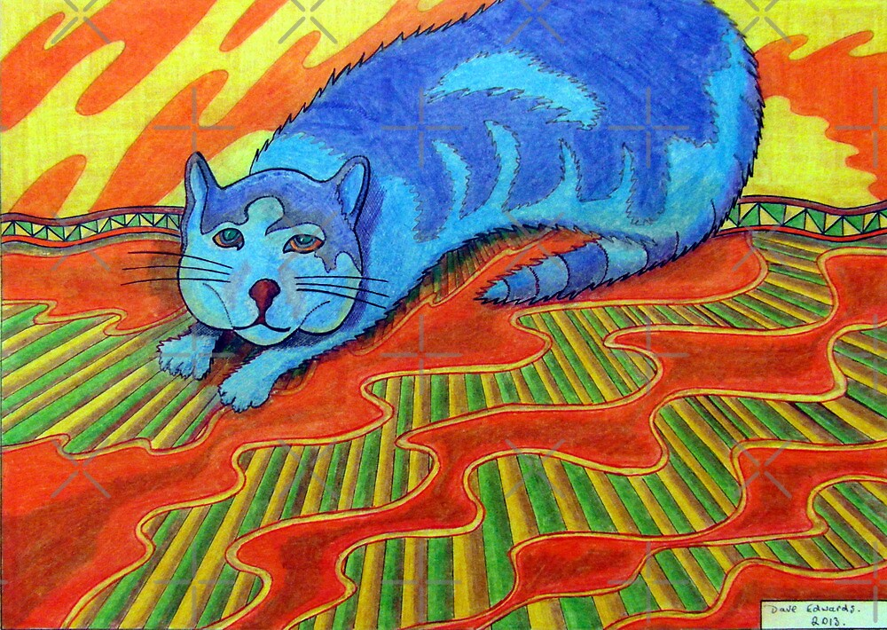 384 - SNARFE IN BLUE - DAVE EDWARDS - COLOURED PENCILS - 2013 by BLYTHART