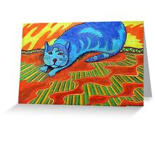 384 - SNARFE IN BLUE - DAVE EDWARDS - COLOURED PENCILS - 2013 Greeting Card