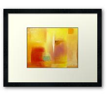 Green Square Framed Print