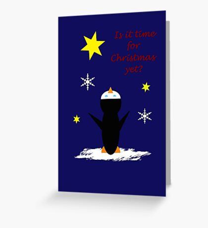 'Looking Up' for Christmas Greeting Card