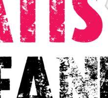 TITS TATTS & BEANIE HATS  Sticker