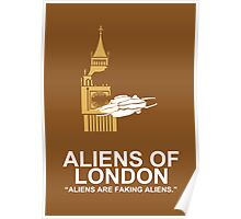 Minimalist 'Aliens of London' Poster Poster