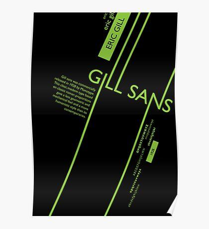 Gills Sans Typography Poster Poster