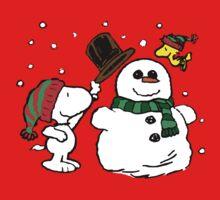 Snoopy Snowman Kids Tee
