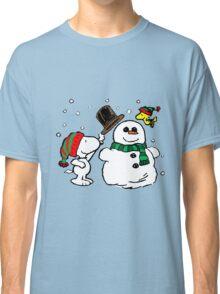 Snoopy Snowman Classic T-Shirt