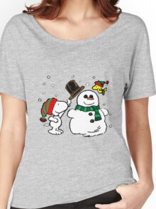 Snoopy Snowman Women's Relaxed Fit T-Shirt