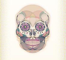 Skull - circular by lazylaves