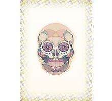 Skull - circular Photographic Print