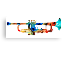 Colorful Trumpet Art By Sharon Cummings Canvas Print