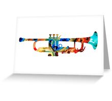Colorful Trumpet Art By Sharon Cummings Greeting Card