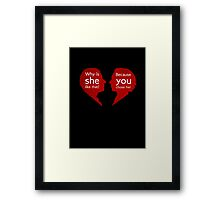 John and Mary - Sherlock Framed Print