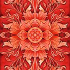 - Red ornament - by Losenko  Mila