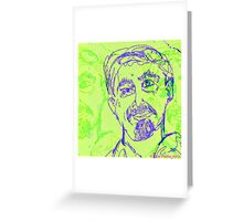 """Portrait  of a Known Man"" Greeting Card"