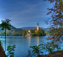 A View to the Church, Lake Bled by jcjc22
