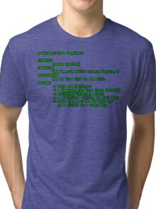 man happiness (black outline) Tri-blend T-Shirt