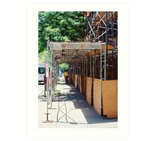 Tunnel of Pipes and Boards Art Print