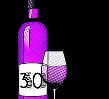 30 years bottle of wine by maydaze