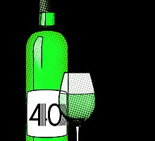 40 years bottle of wine by maydaze