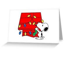 Snoopy Christmas Decorations Greeting Card