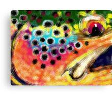 """""""Color"""" - Trout Painting Canvas Print"""