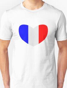 Heart Shaped Flag of France T-Shirt