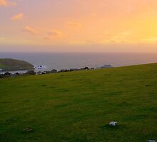 Sunset over Burgh Island, Bigbury on Sea, Bantham by jcjc22