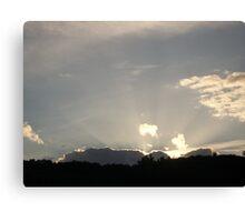 Sky over St Gervais Canvas Print