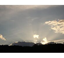 Sky over St Gervais Photographic Print