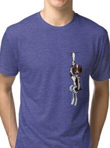 Clingy Springer Spaniel Tri-blend T-Shirt
