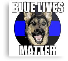 Blue Lives Matter  2 Metal Print