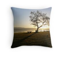 A Beautiful pre-Sunrise Glowing Colours on the Clyde Throw Pillow
