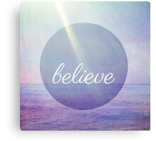 Believe {Purple version} Canvas Print