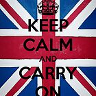 Keep Calm And Carry On - English Original by Funnyquotations
