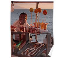colors of a summer sunset - colores de un puesta del sol en el verano Poster