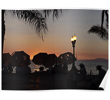 colors of a summer sunset II - colores de un puesta del sol en el verano Poster