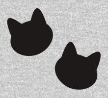 Kitties Pattern One Piece - Long Sleeve