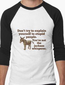 Jackass Whisperer Men's Baseball ¾ T-Shirt