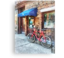 Bicycle by Post Office Canvas Print