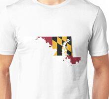 Maryland Flag | State Line | SteezeFSC Unisex T-Shirt
