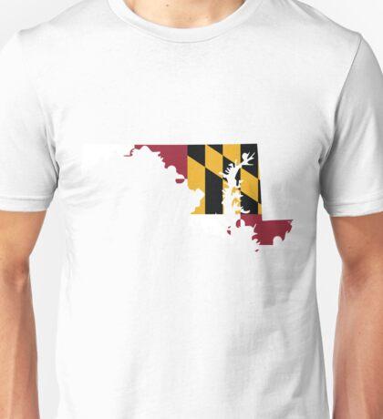 Maryland Flag   State Line   SteezeFSC Unisex T-Shirt