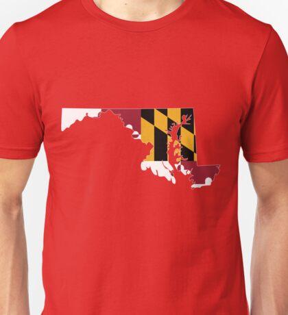 Maryland Flag [Wht]   State Line   SteezeFSC Unisex T-Shirt