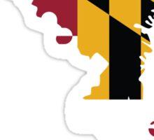 Maryland Flag [Wht] | State Line | SteezeFSC Sticker