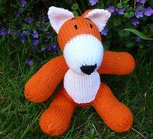 Hand knitted little fox by mrsmcvitty