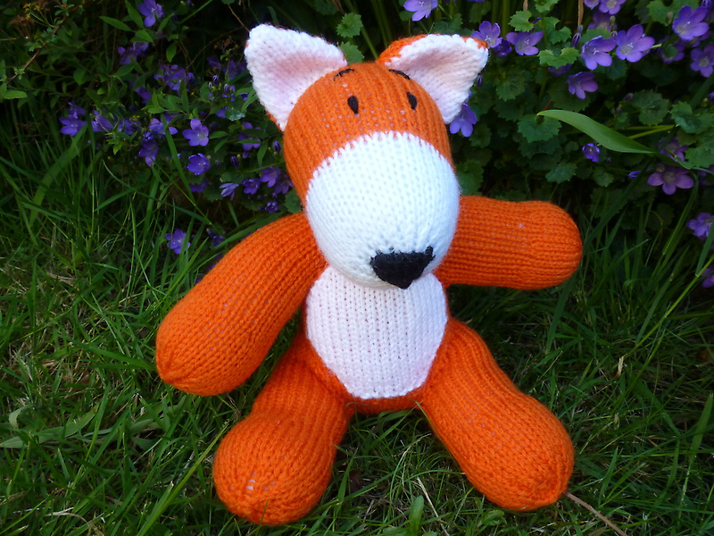 Hand knitted little fox by mrsmcvitty