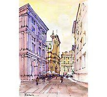 Angolo di Piazza De Ferrari a Genova Photographic Print