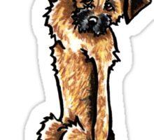 Clingy Border Terrier Sticker