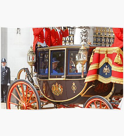 The Queen at Trooping The Colour  Poster