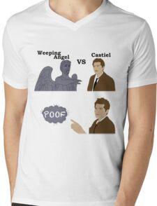 Weeping Angel VS Castiel Mens V-Neck T-Shirt