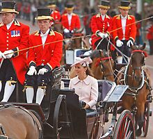 Kate the Duchess Of Cambridge At Trooping the Colour by Keith Larby