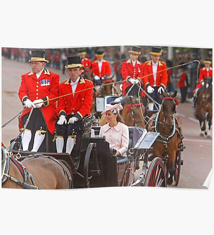 Kate the Duchess Of Cambridge At Trooping the Colour Poster